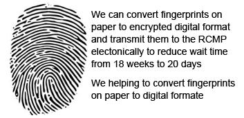 Digital Electronic Fingerprint Canada RCMP Chennai, Police
