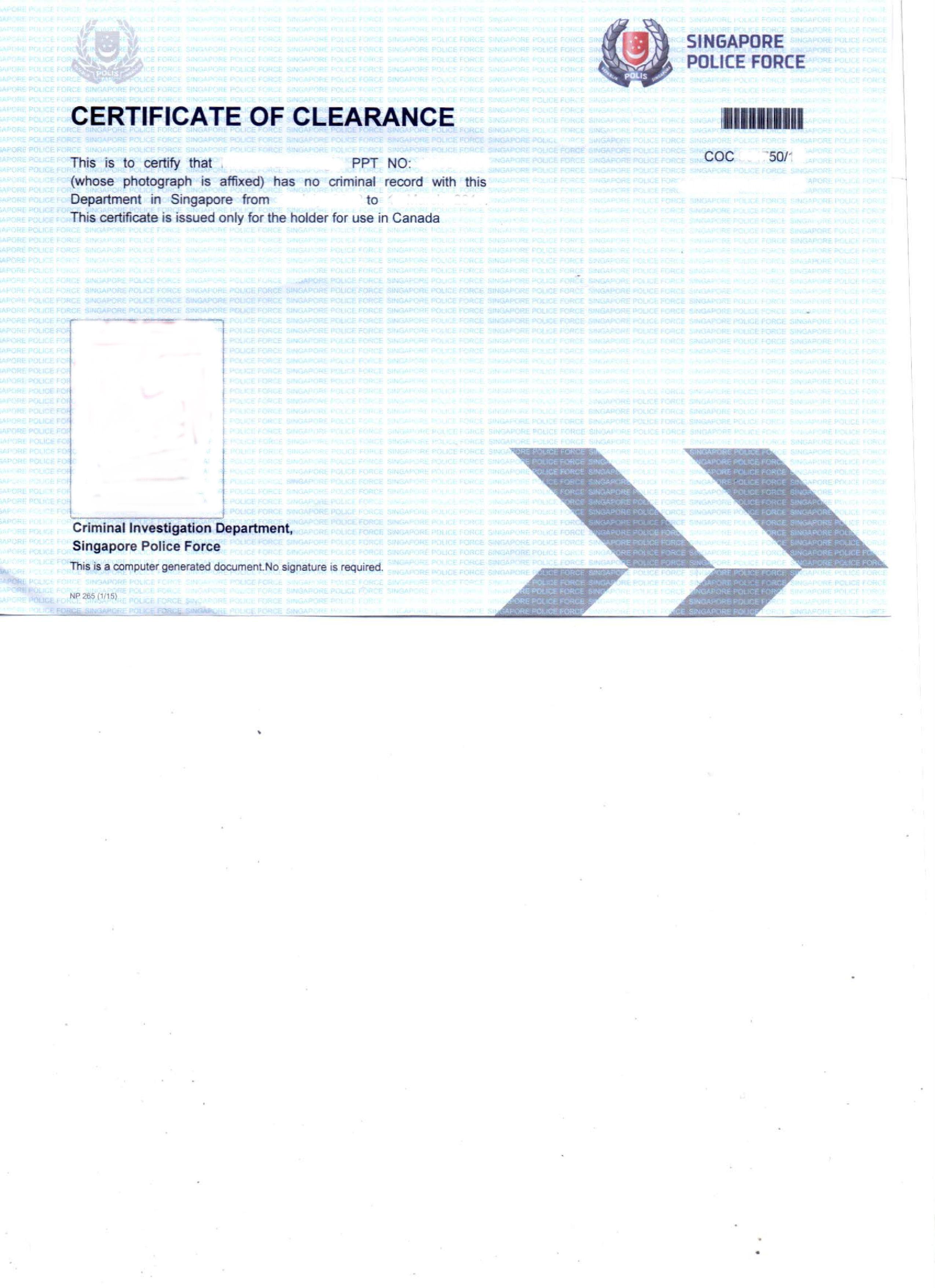 Police clearance certificate coc singapore delhi mumbai singapore coc pcc delhi xflitez Image collections